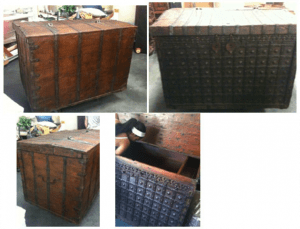 MHM 4ft tall wooden chest