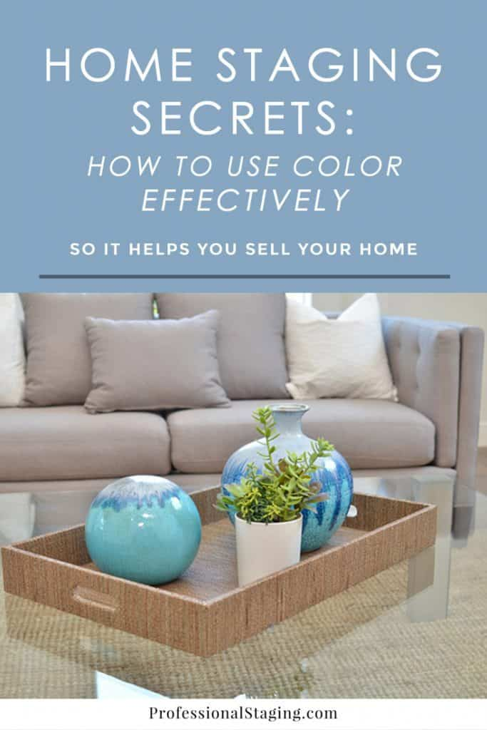 Find out how some simple uses of color can help your home appeal more to buyers! #realestate #homeselling #homestaging