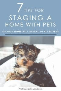 Pets are an amazing part of our lives, but unfortunately many home buyers see signs of pets as turn-offs in a listing. here are 7 tips to help your home appeal to all buyers.   ProfessionalStaging.com #realestate #homeselling #staging