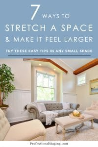These are some of the best tips for making a small space feel larger! They're super easy and inexpensive, too.