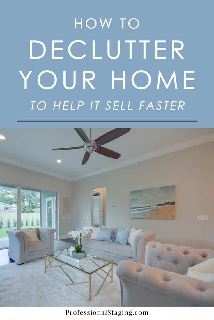 Where To Start When Decorating A Living Room: How To Declutter Your Home To Help It Sell Faster