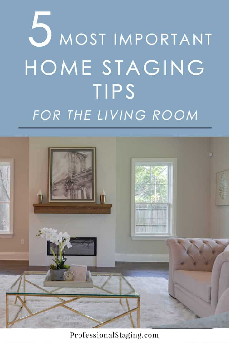 The 5 most important home staging tips for the living room - Tips for living in a small space property ...