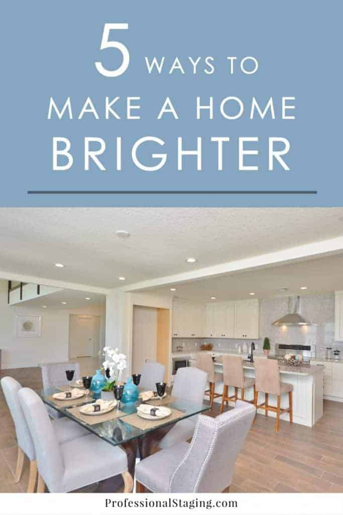 Does your home feel dark and drab? Try these 5 easy tricks to make your home brighter besides artificial lighting.