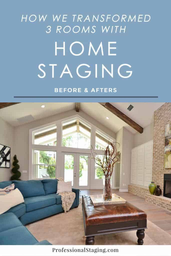 See how 3 rooms were improved with some simple home staging to make them more appealing to buyers and sell the homes faster.