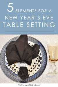 Bring in the New Year in style with these simple but chic New Year's Eve table setting ideas that you can mix and match.