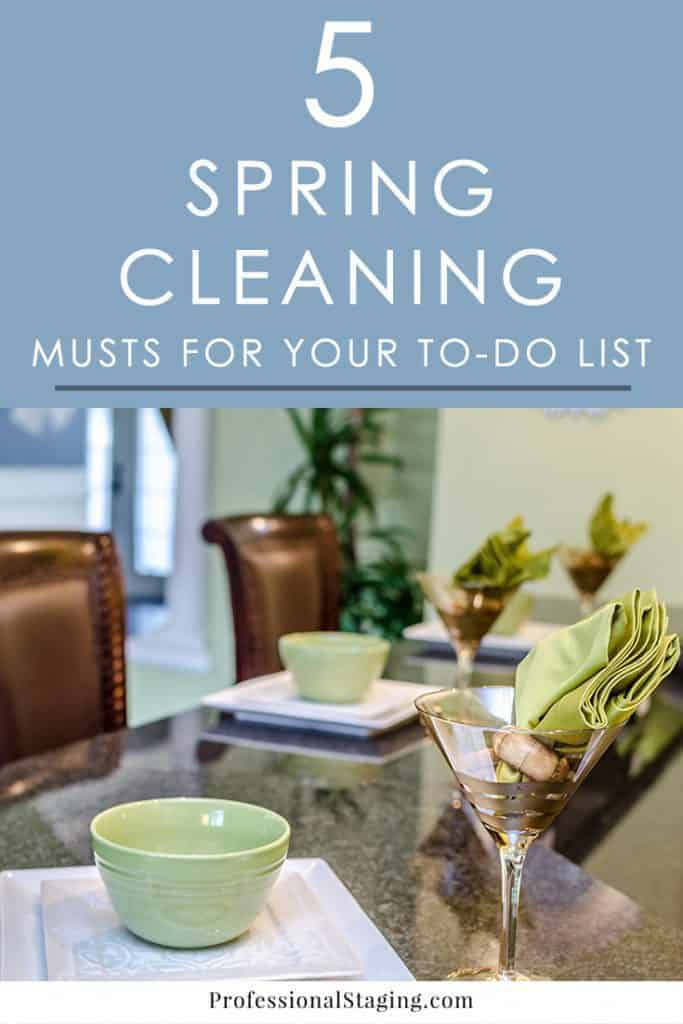Spring is the perfect time of year to freshen up your home with some deep cleaning. If you want a short spring cleaning to-do list, make sure these 5 tasks are on it.