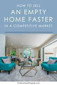Empty homes may seem like they would sell faster than occupied ones, but the opposite can often be true. Here's how home staging can help sell an empty home faster.