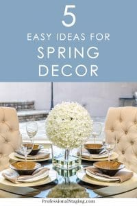 Want to give your home some spring flair for the season? Here are 5 easy decorating ideas you can implement right away!