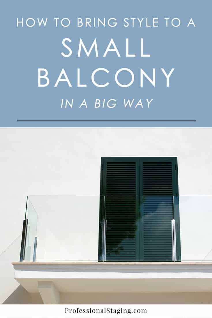 A small balcony may seem impossible to decorate, but they can actually pack a lot of style with some simple tricks!
