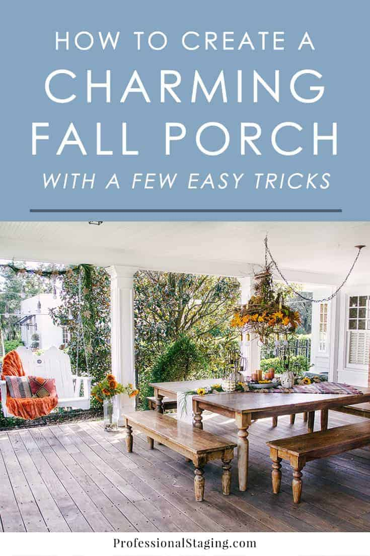 Find out our process behind creating this beautiful fall porch with decorating tips and tricks you can use to create your own charming seasonal decor.
