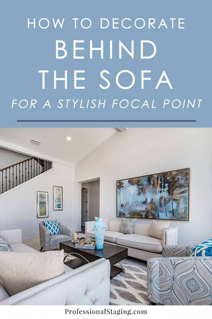 Not sure what to do with that giant blank space behind the sofa? Here are some inspiring ideas on how to decorate the space above the sofa to help create a beautiful focal point.