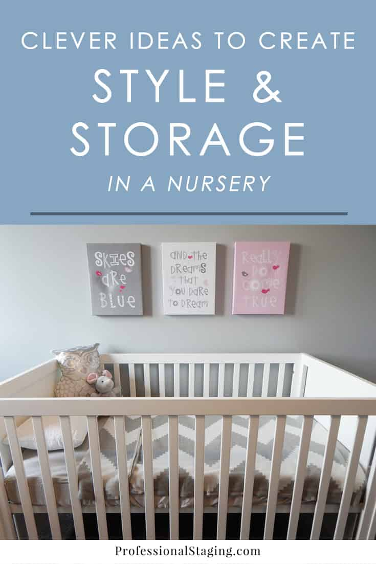 Getting ready to decorate a nursery? Here are some creative ideas for nursery decor and storage to make the most of the space.